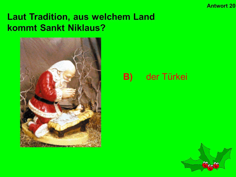 A)St Stephen Welcher Heilige wird am zweiten Weihnachtstag gefeiert? Antwort 19