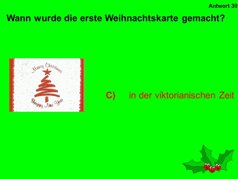 D)Beatles Wer hat die meisten Weihnachtsschlager gehabt? Antwort 29