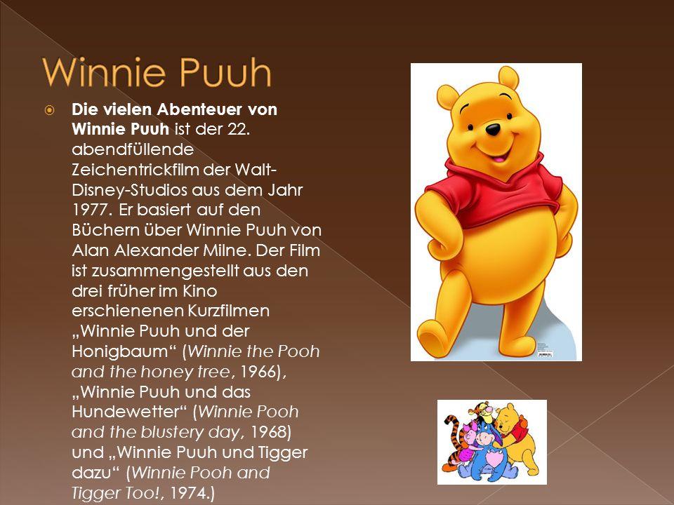Die vielen Abenteuer von Winnie Puuh ist der 22. abendfüllende Zeichentrickfilm der Walt- Disney-Studios aus dem Jahr 1977. Er basiert auf den Büchern
