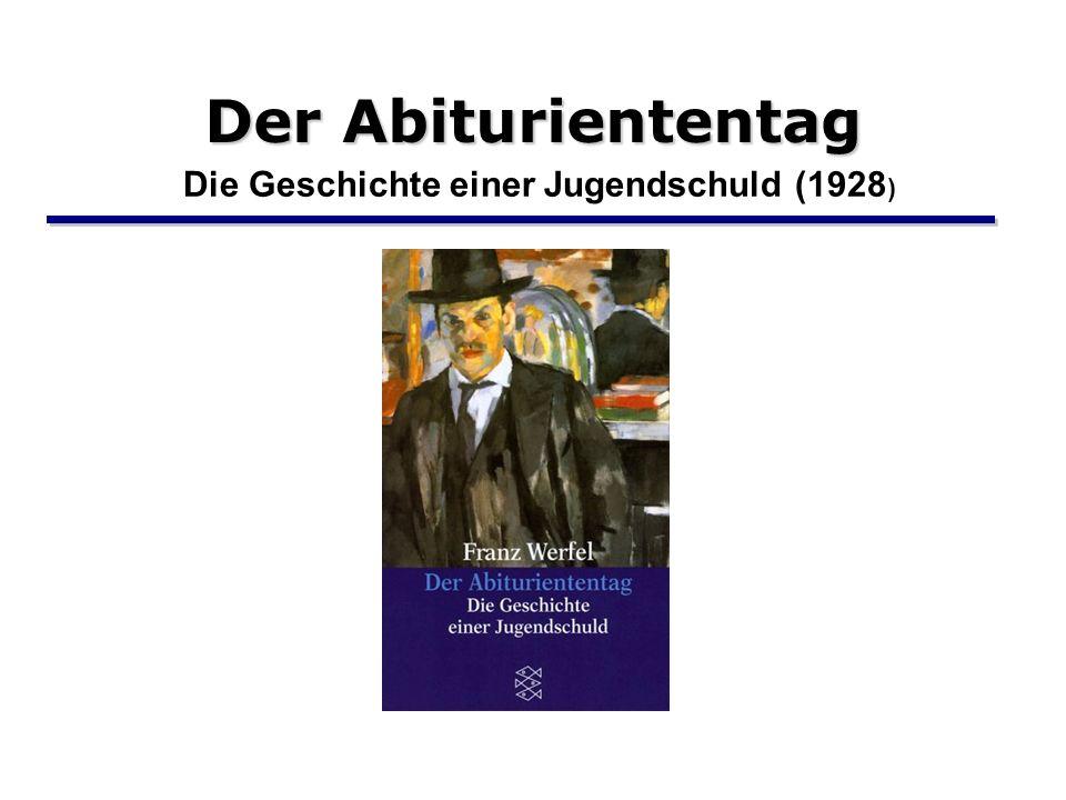 Der Abituriententag Die Geschichte einer Jugendschuld (1928 )