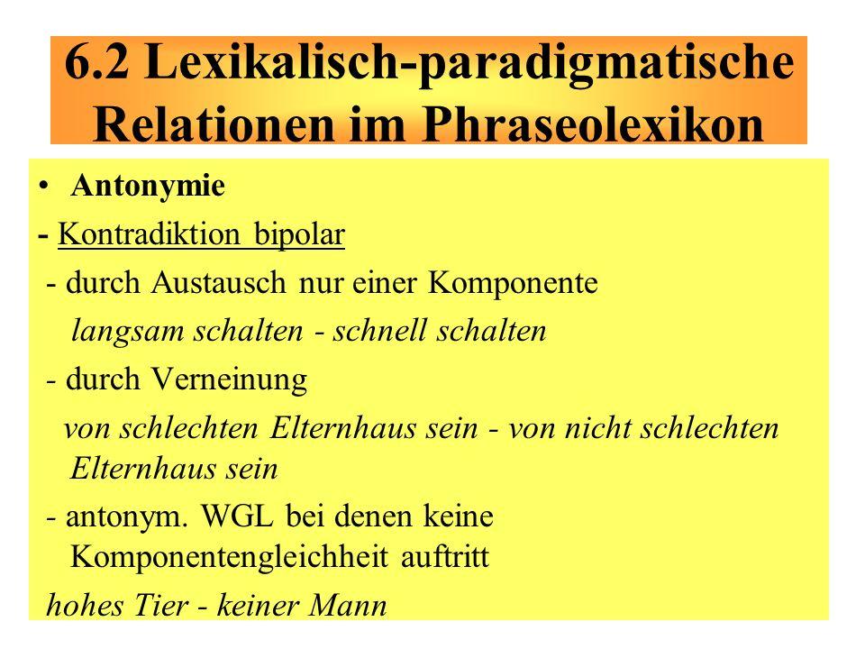 Antonymie - Kontradiktion bipolar - durch Austausch nur einer Komponente langsam schalten - schnell schalten - durch Verneinung von schlechten Elternh
