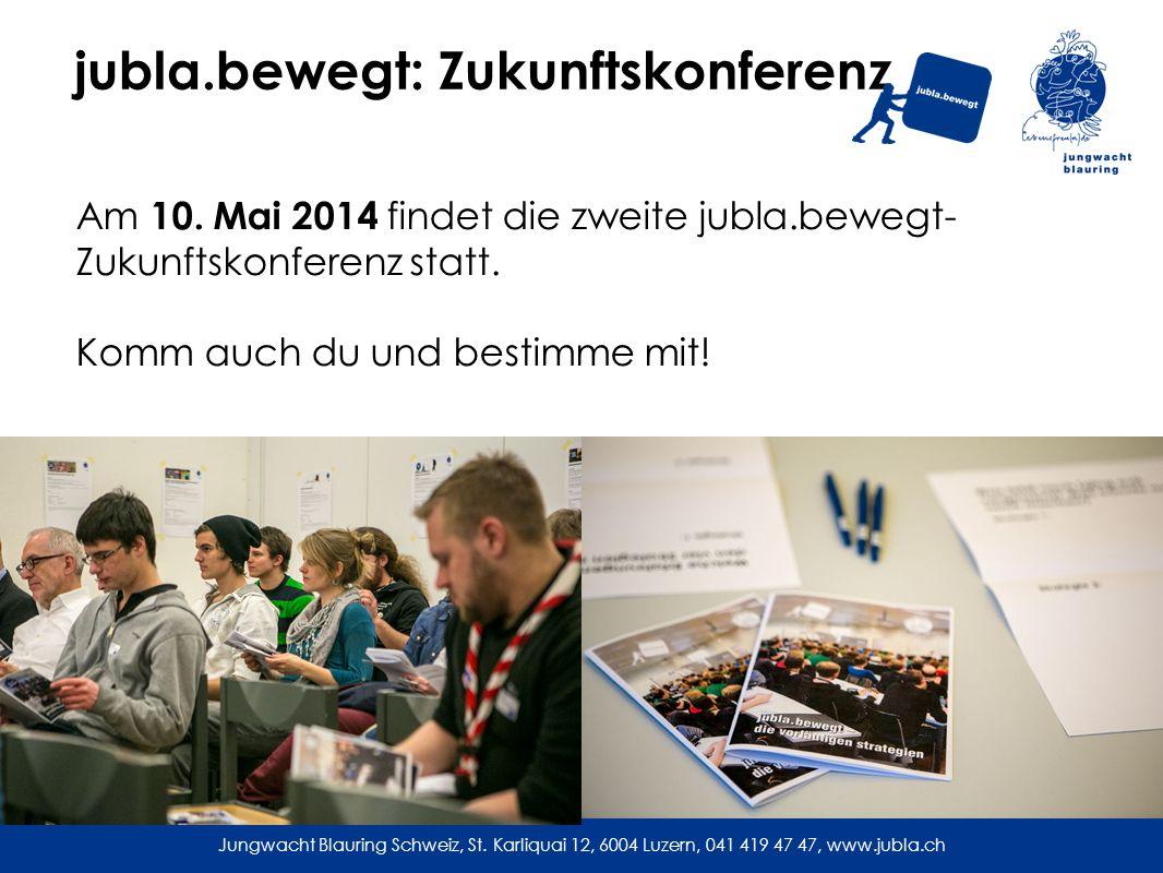 jubla.bewegt: Zukunftskonferenz Am 10.