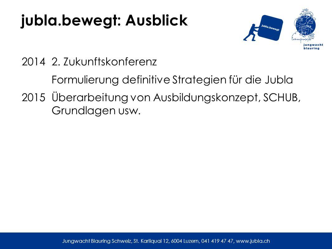 jubla.bewegt: Ausblick 2014 2.