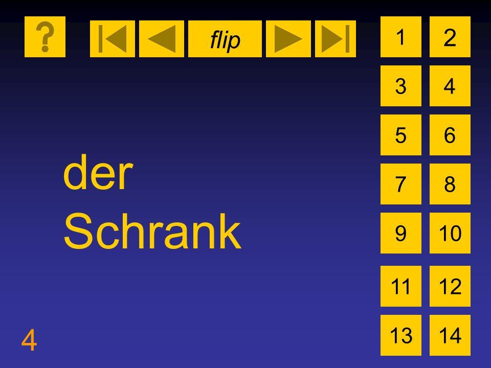 flip 4 1 3 2 4 5 7 6 8 910 1112 1314 der Schrank