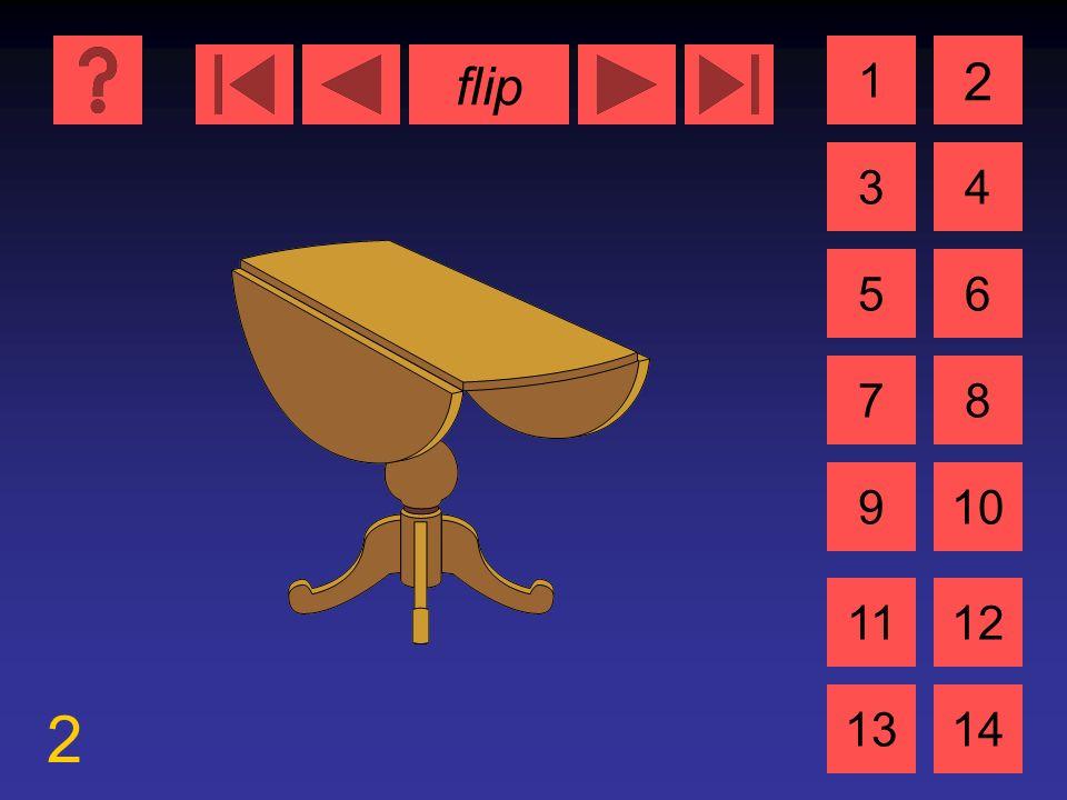 flip 2 1 3 2 4 5 7 6 8 910 1112 1314 der Tisch