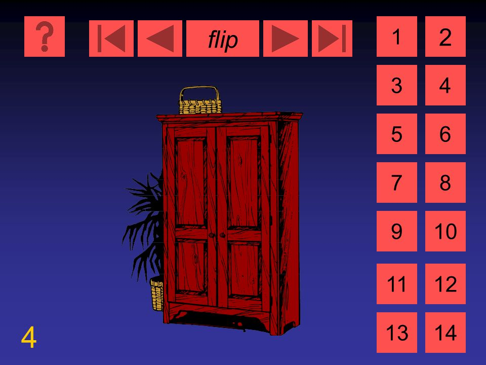 flip 9 1 3 2 4 5 7 6 8 910 1112 1314 die Kamara der Film