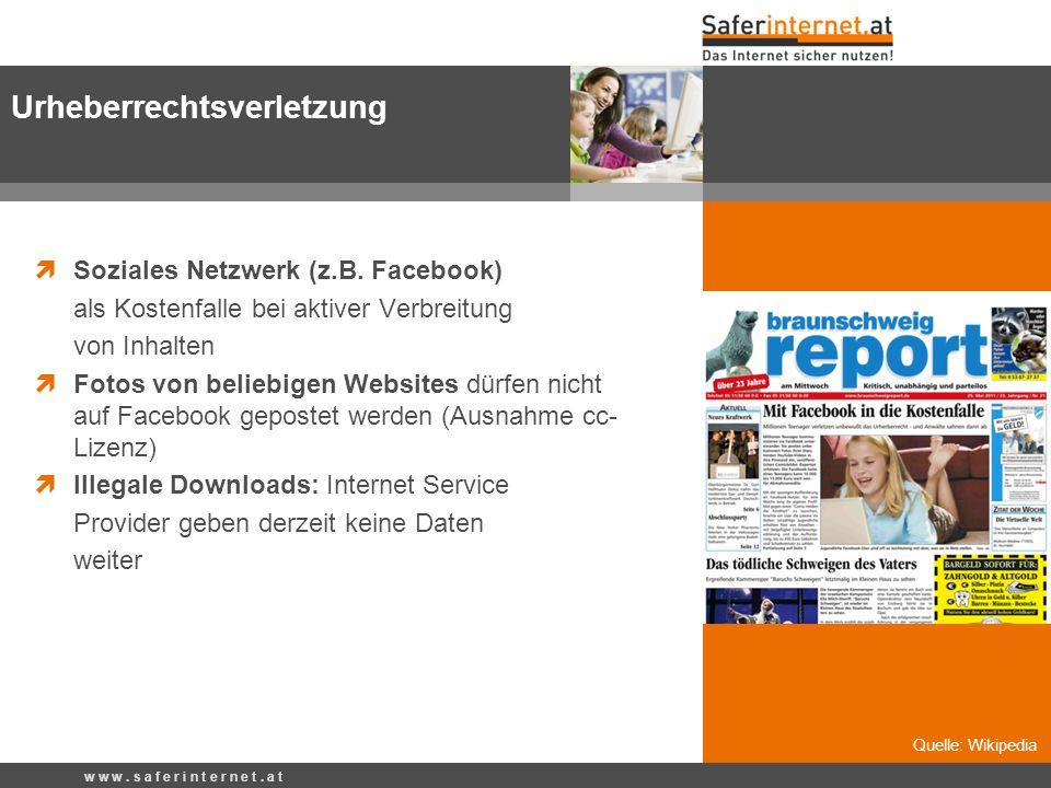 Soziales Netzwerk (z.B. Facebook) als Kostenfalle bei aktiver Verbreitung von Inhalten Fotos von beliebigen Websites dürfen nicht auf Facebook geposte