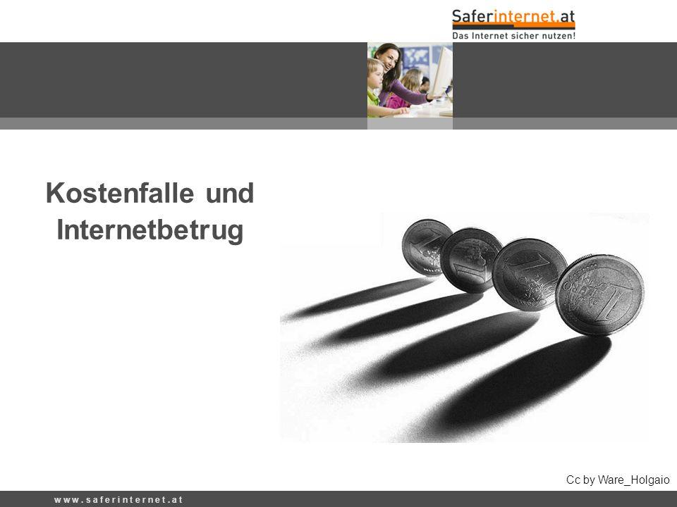 Kostenfalle und Internetbetrug Cc by Ware_Holgaio