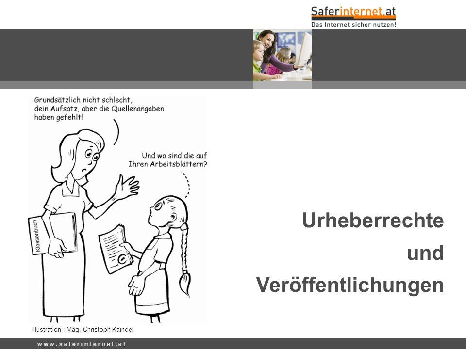 Urheberrechte und Veröffentlichungen Illustration : Mag. Christoph Kaindel