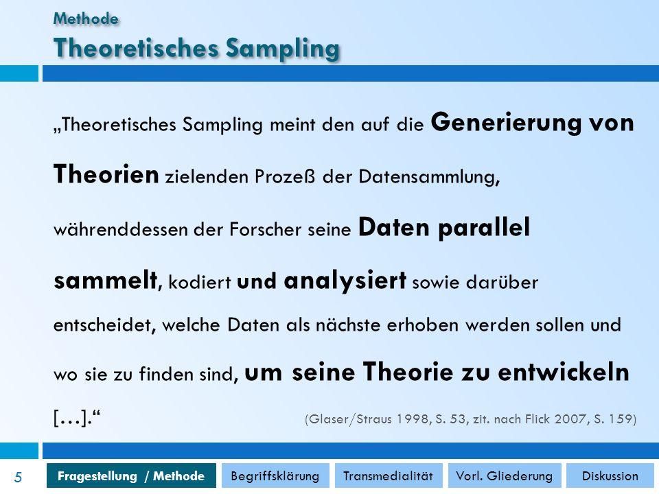 Fragestellung / MethodeBegriffsklärungTransmedialitätVorl.