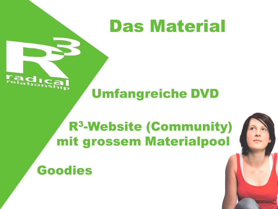 Umfangreiche DVD R 3 -Website (Community) mit grossem Materialpool Goodies Das Material