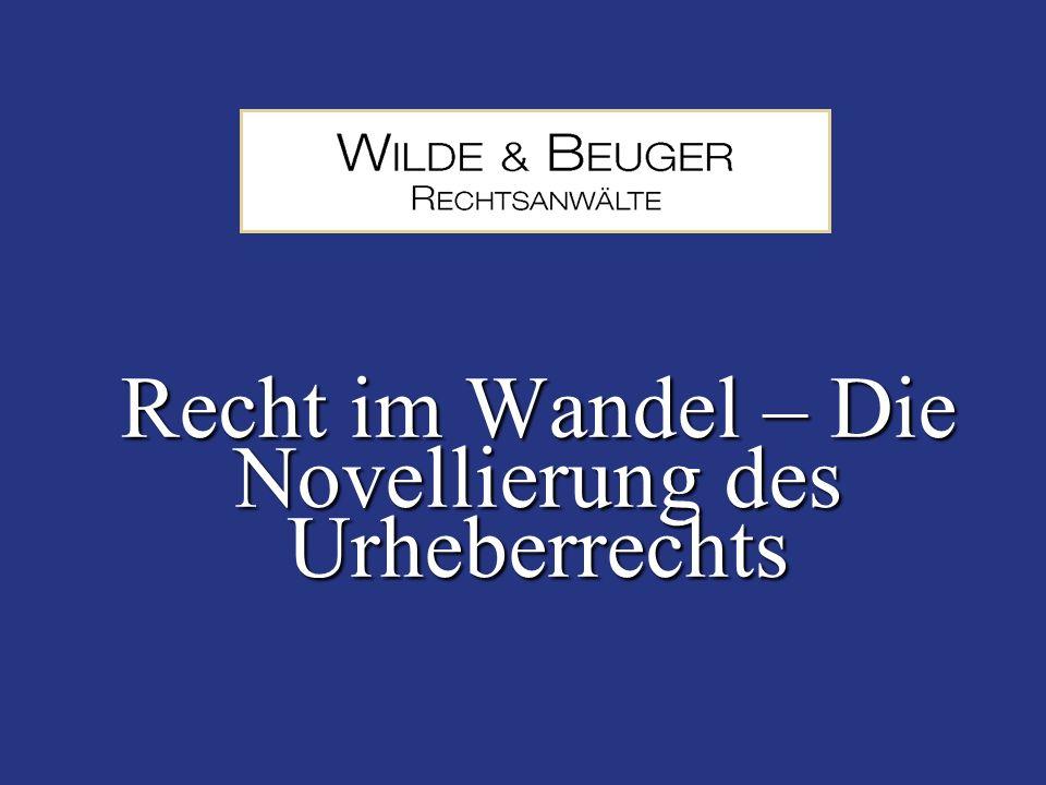 Urheberrecht im Wandel 2 Zur Person Dr.