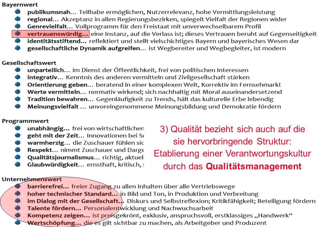 Zürcher Fachhochschule 8 3) Qualität bezieht sich auch auf die sie hervorbringende Struktur: Etablierung einer Verantwortungskultur durch das Qualität