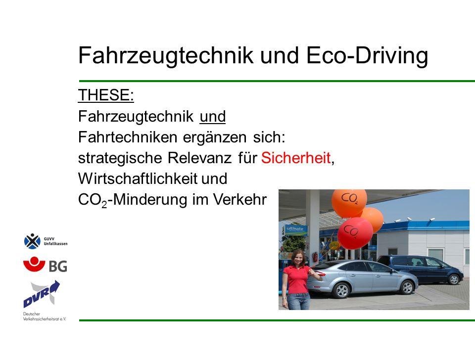 Integrierter Ansatz = multiple Beiträge Integrierter Ansatz Automobil-Industrieund Zulieferer Mineralöl-IndustrieFahrer(Flotten & privat)Politik &Organisationen Eco- Driving