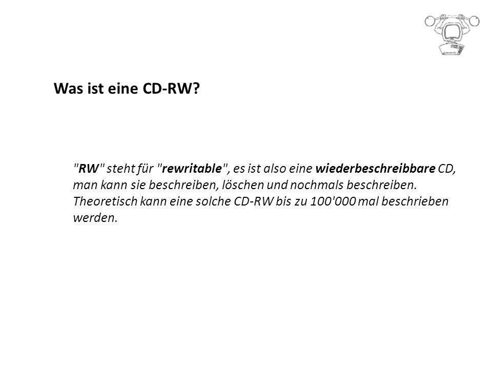 Was ist eine CD-RW.