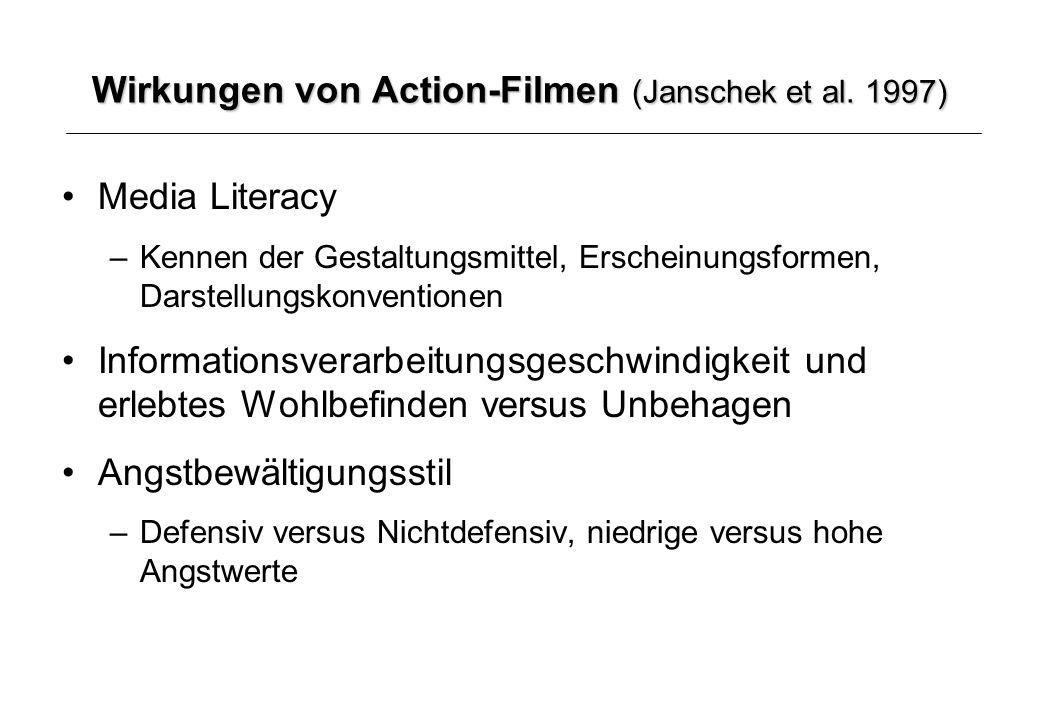 Wirkungen von Action-Filmen (Janschek et al.