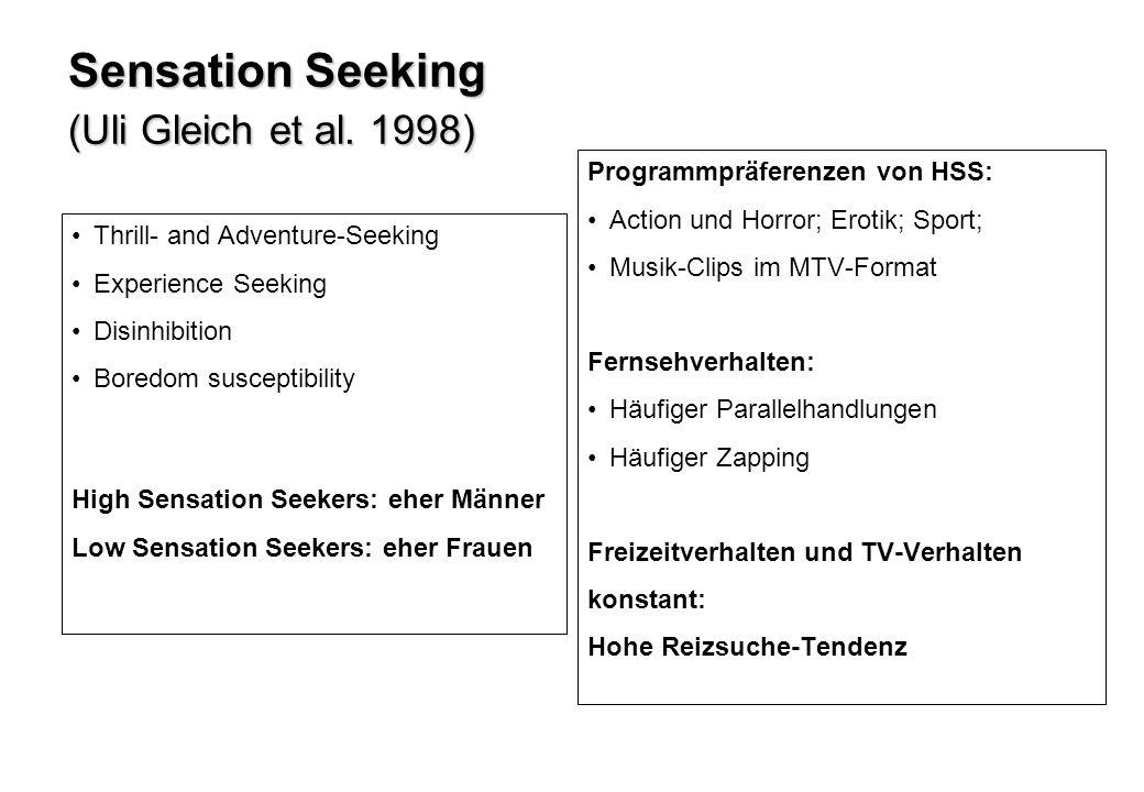 Sensation-Seeking und Freizeitaktivitäten (Mittelwertsunterschiede) High- versus Low-Sensation-Seeker