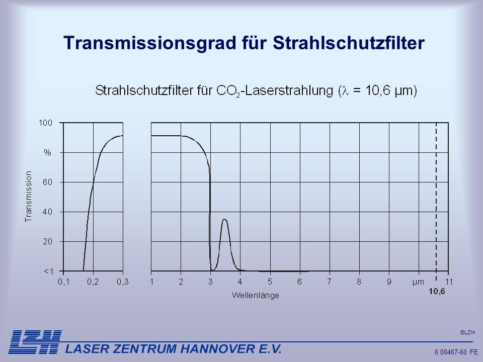 ©LZH 6 00467-60 FE Transmissionsgrad für Strahlschutzfilter