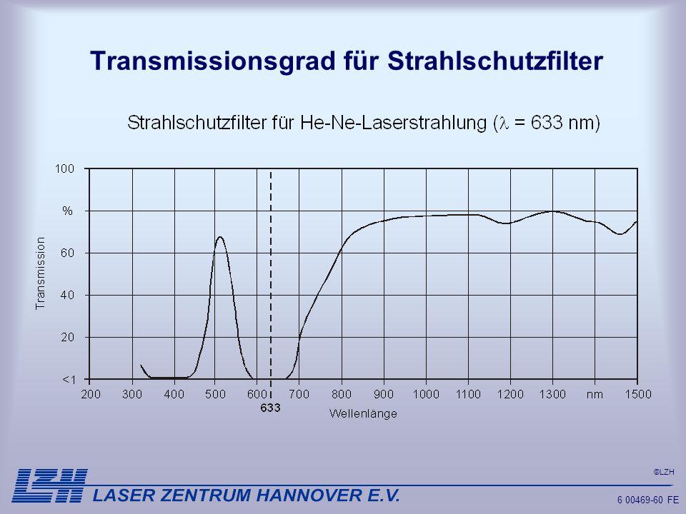 ©LZH 6 00469-60 FE Transmissionsgrad für Strahlschutzfilter
