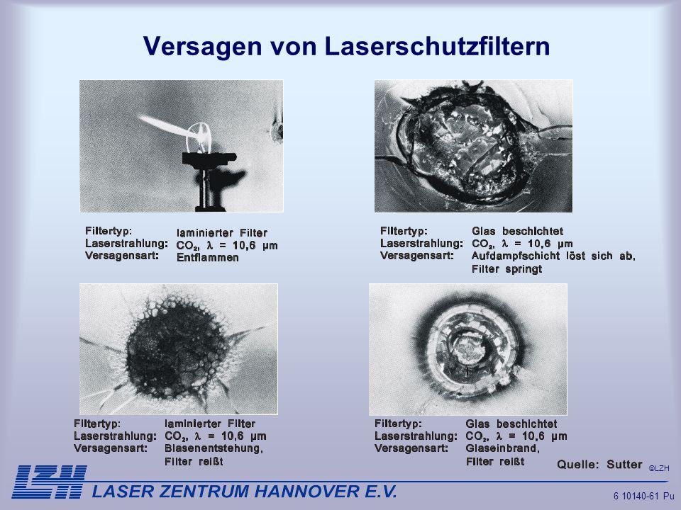 ©LZH 6 10140-61 Pu Versagen von Laserschutzfiltern