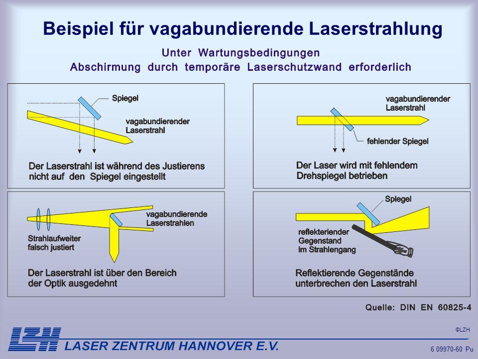 ©LZH 6 09970-60 Pu Beispiel für vagabundierende Laserstrahlung