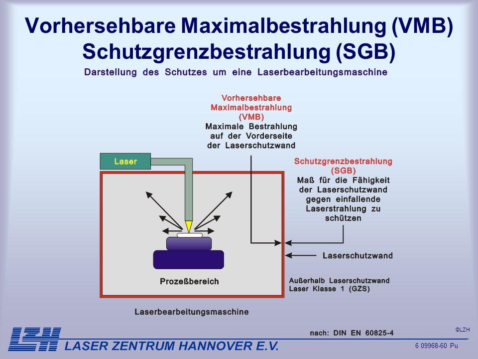 ©LZH Vorhersehbare Maximalbestrahlung (VMB) Schutzgrenzbestrahlung (SGB) 6 09968-60 Pu