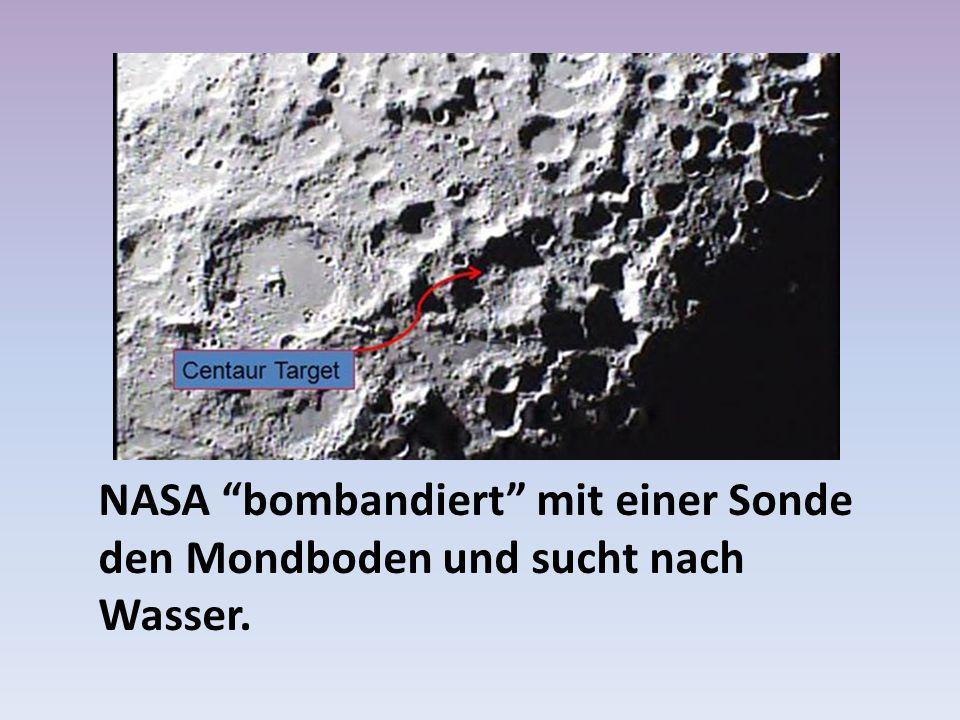 NASA bombandiert mit einer Sonde den Mondboden und sucht nach Wasser.