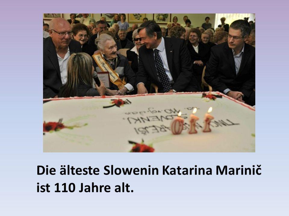 Die älteste Slowenin Katarina Marinič ist 110 Jahre alt.