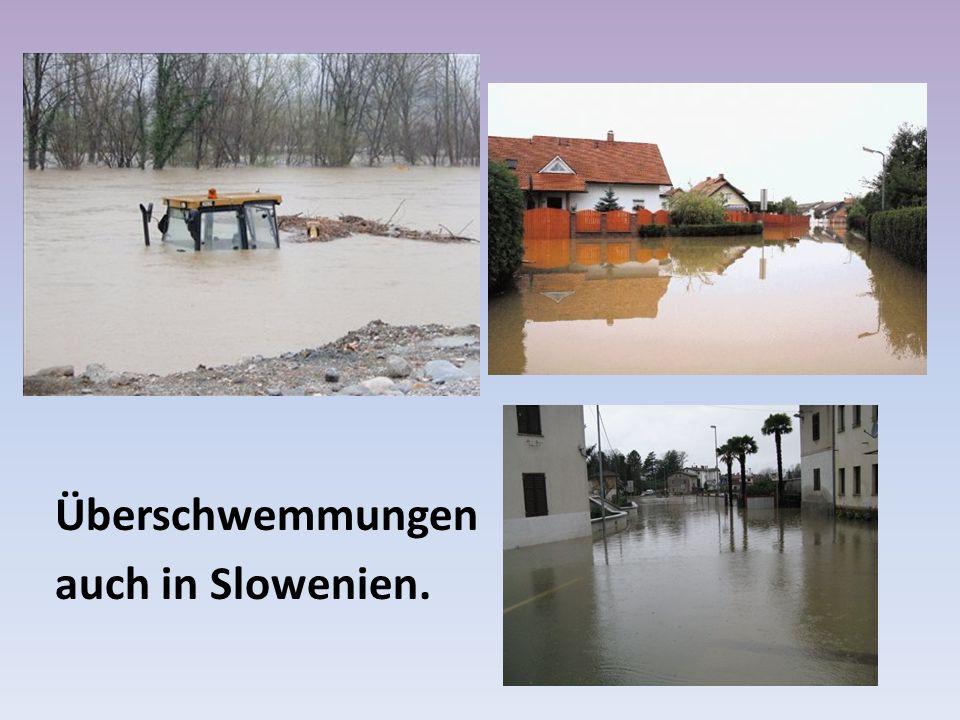 Überschwemmungen auch in Slowenien.