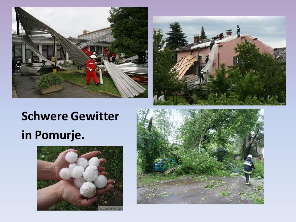 Schwere Gewitter in Pomurje.