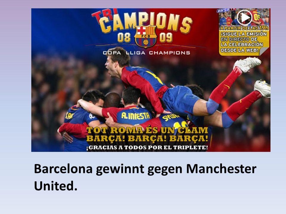 Barcelona gewinnt gegen Manchester United.