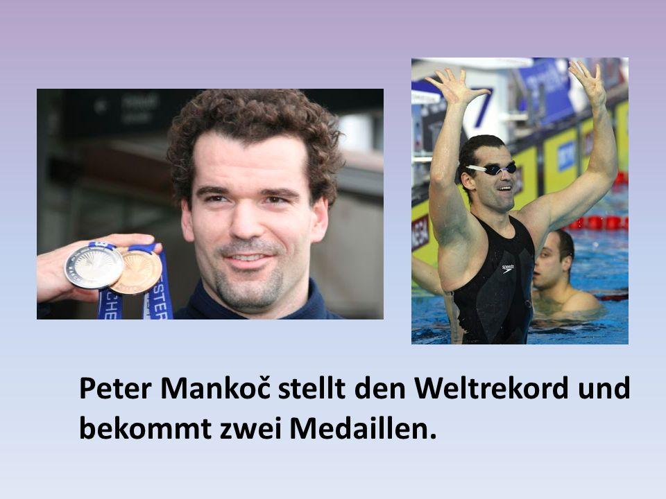 Peter Mankoč stellt den Weltrekord und bekommt zwei Medaillen.