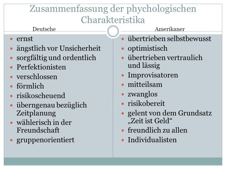 Wirtschaftskapitel Kapitel 3: Kulturelle Unterschiede z.
