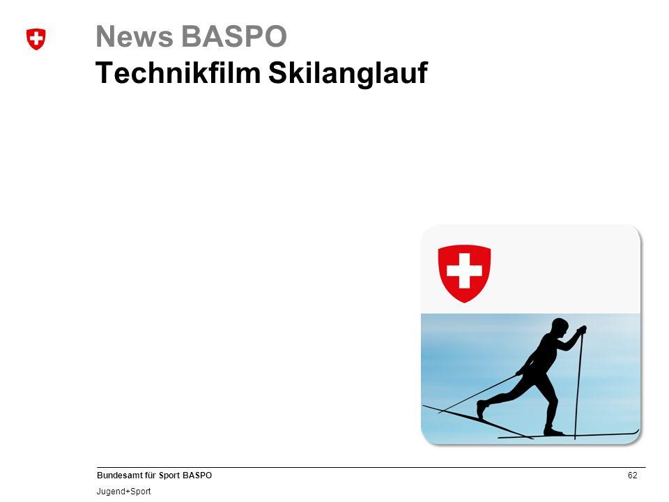 62 Bundesamt für Sport BASPO Jugend+Sport News BASPO Technikfilm Skilanglauf