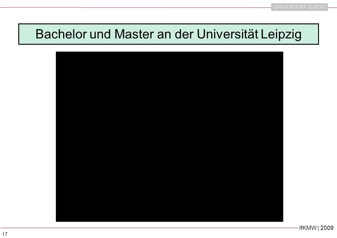IfKMW | 2009 17 Bachelor und Master an der Universität Leipzig