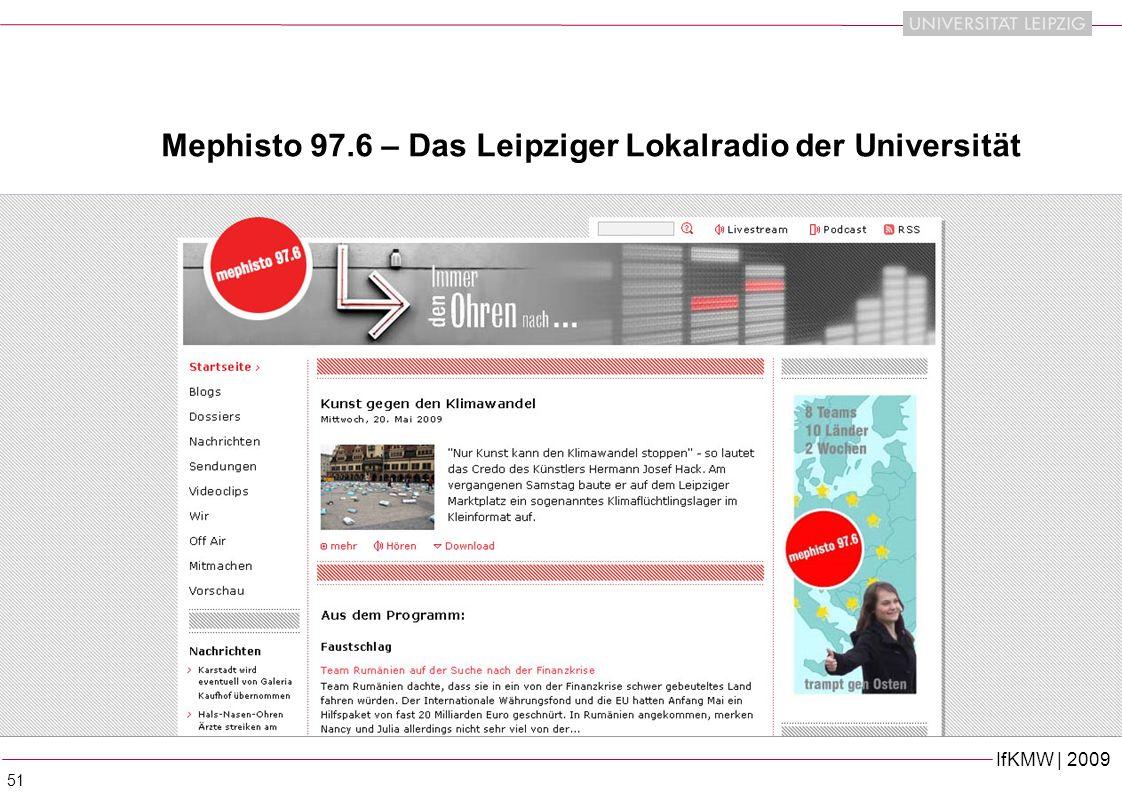 IfKMW | 2009 51 Mephisto 97.6 – Das Leipziger Lokalradio der Universität