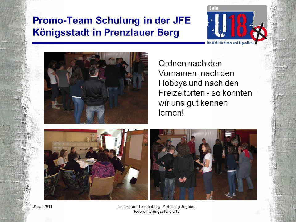 01.03.2014 Bezirksamt Lichtenberg, Abteilung Jugend, Koordinierungsstelle U18 Einige Impressionen