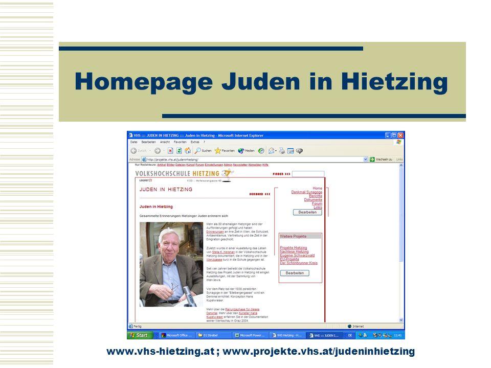Homepage Juden in Hietzing www.ns-verbrechen.at