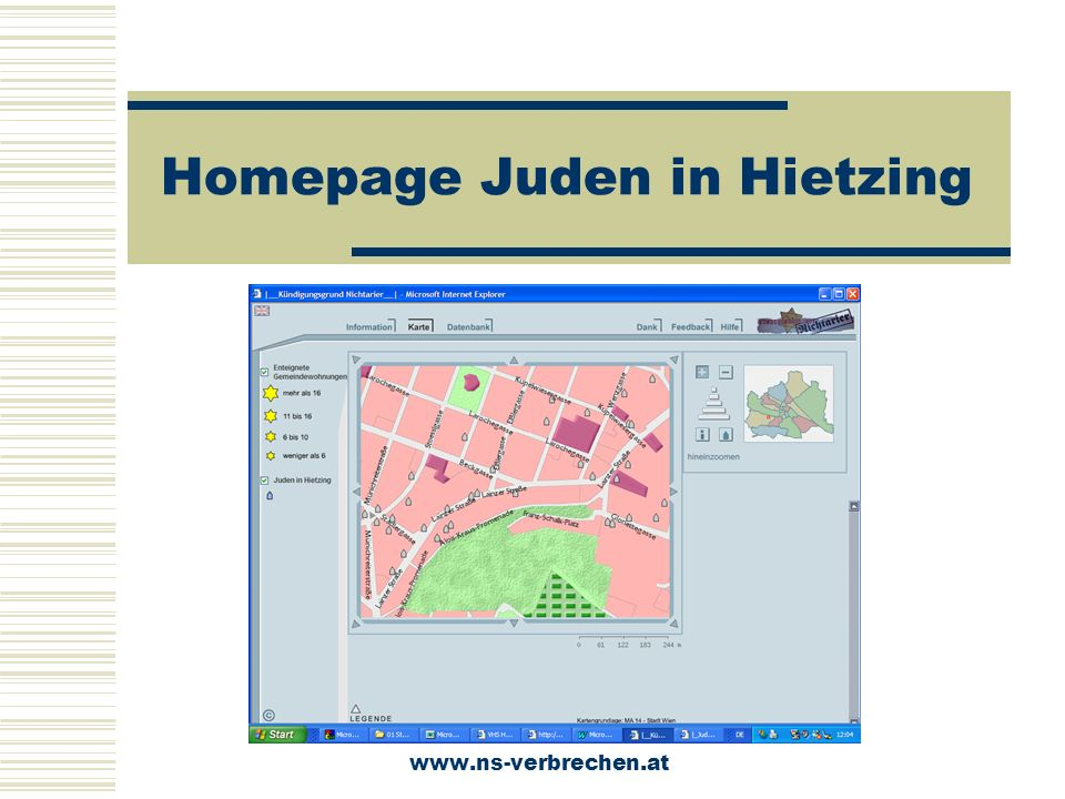 Homepage Juden in Hietzing www.ns-verbrechen.at