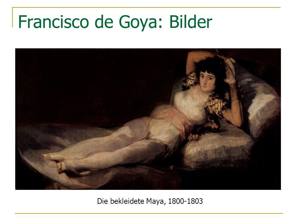 Die bekleidete Maya, 1800-1803