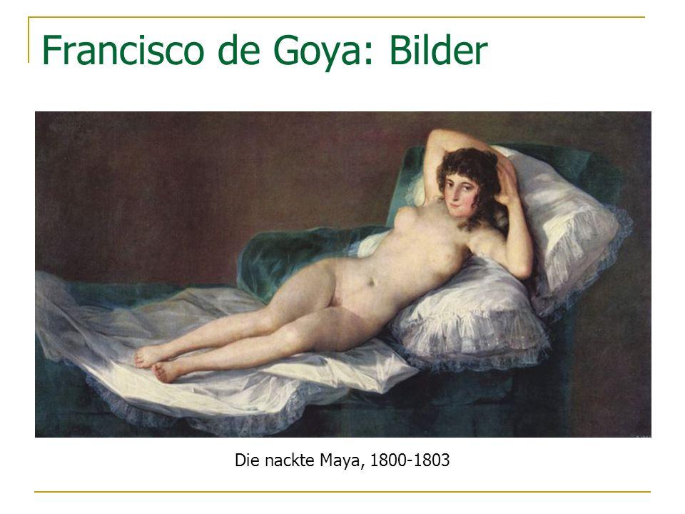 Francisco de Goya: Bilder Die nackte Maya, 1800-1803