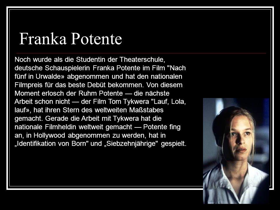 Franka Potente Noch wurde als die Studentin der Theaterschule, deutsche Schauspielerin Franka Potente im Film