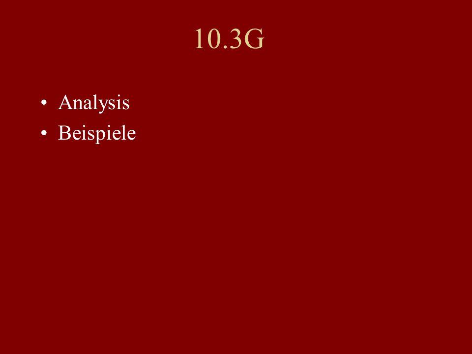 10.3G Analysis Beispiele