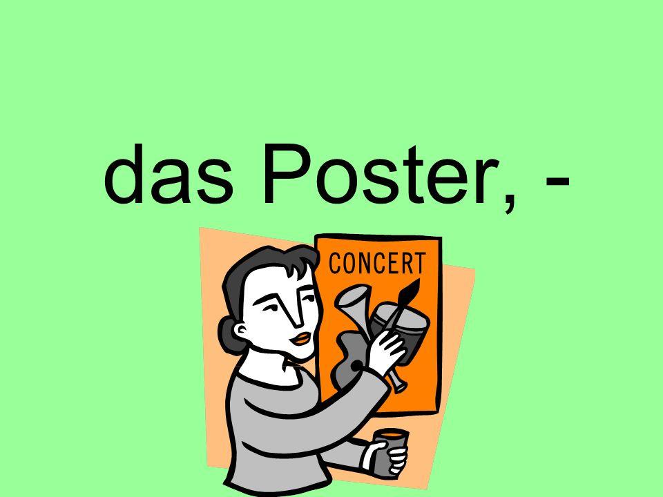 das Poster, -