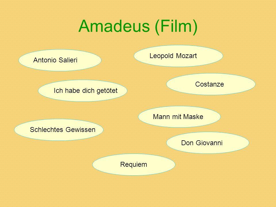 Amadeus (Film) Antonio Salieri Ich habe dich getötet Schlechtes Gewissen Leopold Mozart Costanze Mann mit Maske Don Giovanni Requiem