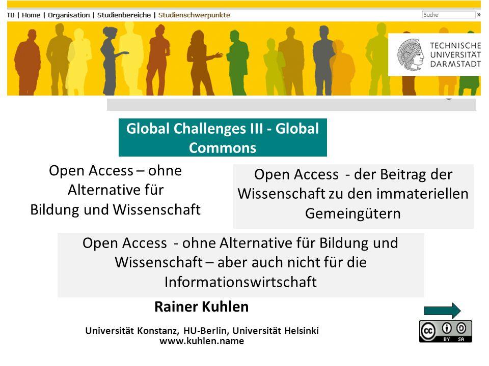 2 Inhalt – Themen Open Access Deklarationen Ausgangspunkt Versorgungs- krise Wem gehört eigentlich Wissen.