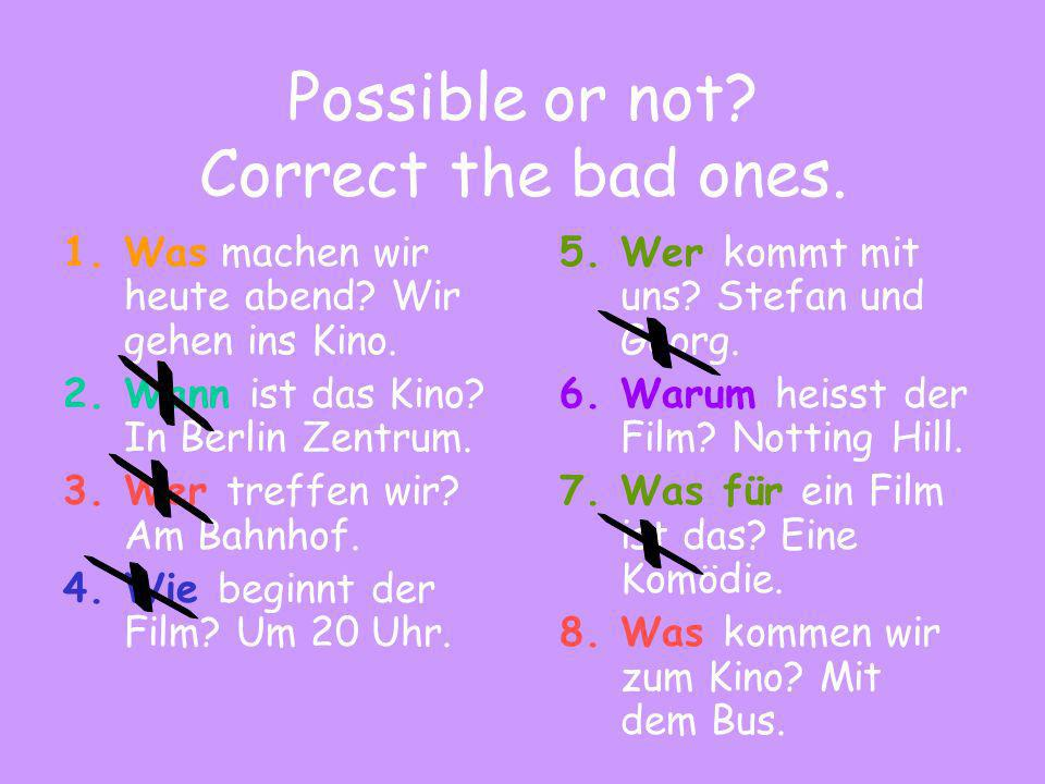Choose the correct question word Wie / Wo gehts dir.