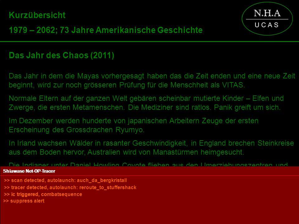 Powered by Kurzübersicht 1979 – 2062; 73 Jahre Amerikanische Geschichte Das Jahr des Chaos (2011) Das Jahr in dem die Mayas vorhergesagt haben das die