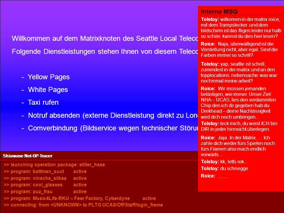Powered by Seattle Telecommunication Service Kleine Waffen, grosse Waffen, viele Waffen.