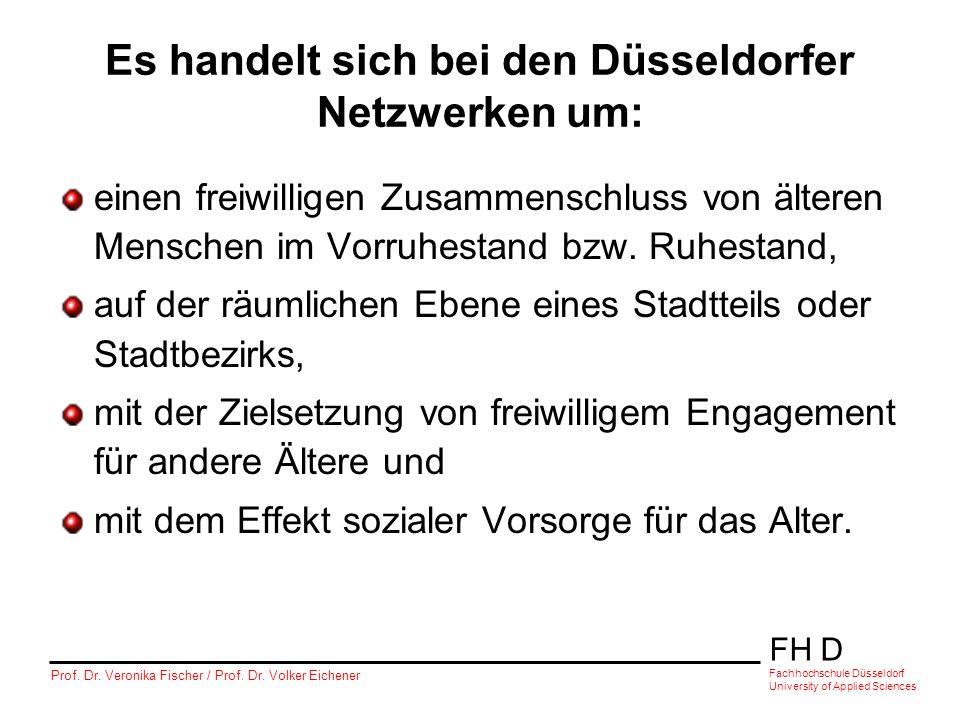FH D Fachhochschule Düsseldorf University of Applied Sciences Prof. Dr. Veronika Fischer / Prof. Dr. Volker Eichener Es handelt sich bei den Düsseldor